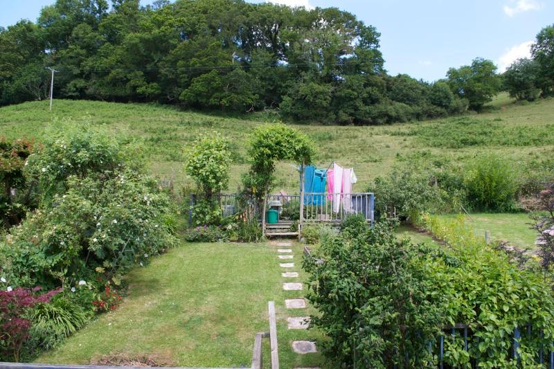 Back garden and fields