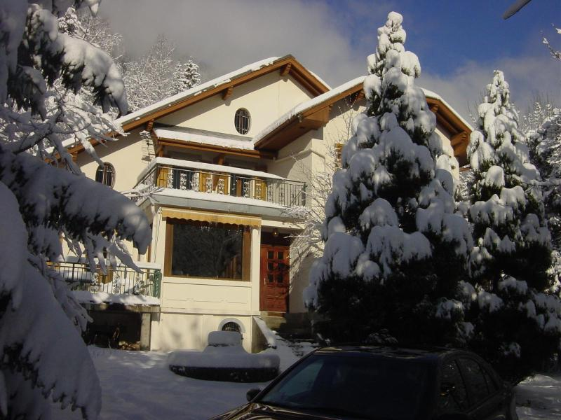 Villa from outside just after snow