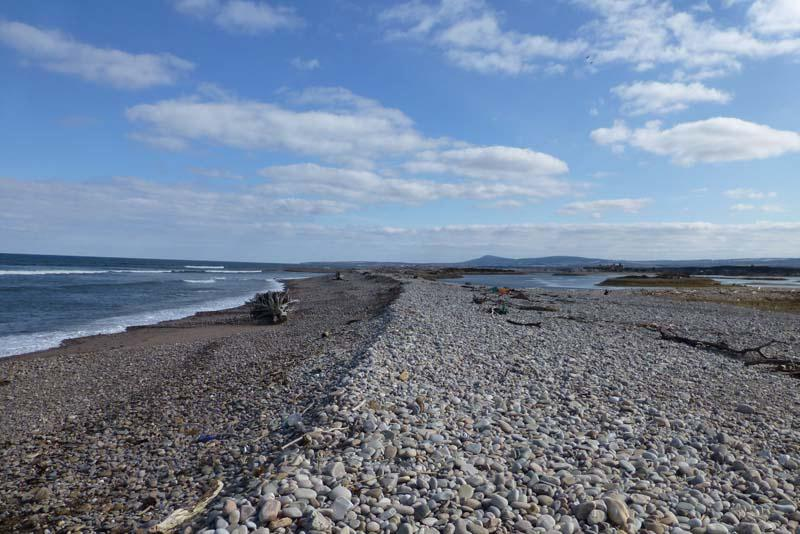 Shingle beach at Kingston looking east towards Tugnet and Buckie in the distance