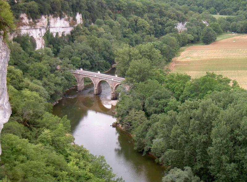 View of dramatic Aveyron Gorge