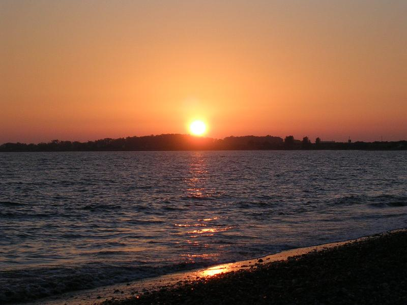 Sunset from Mandria beach