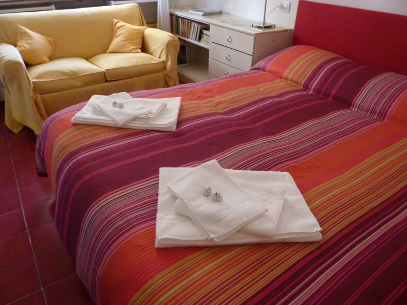 Laundry-washed 100%Cotton Bed Linen and Towels are Provided