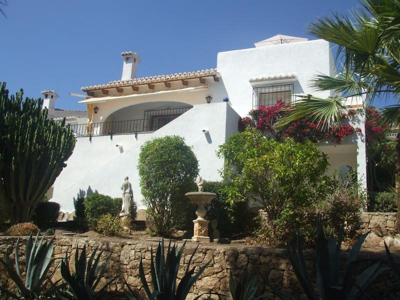 View of the Villa from the back.
