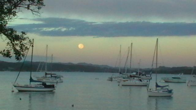 Even the occasional moonrise