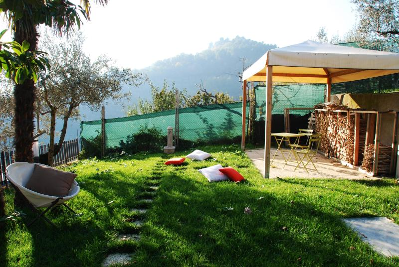 País casa aprox. l ' Ulivo Moraiolo-jardín Gazebo