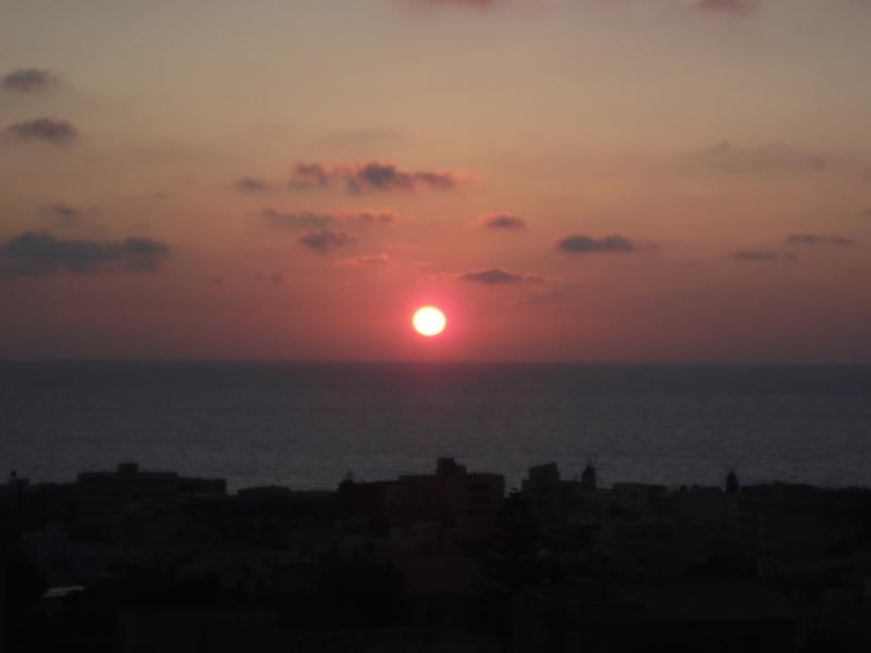 tramonto visto dalla terrazza