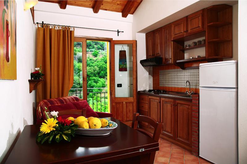 cucina-soggiorno dell'appartamento 'mandarino'
