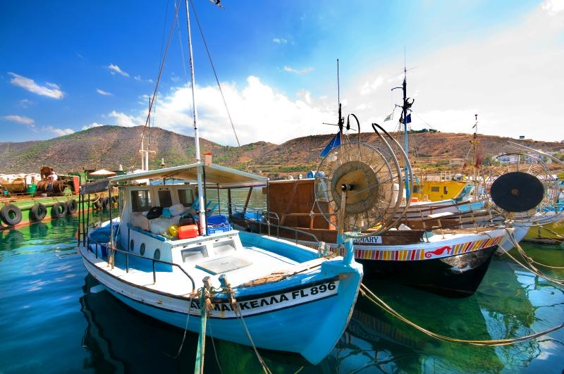 Fishing boats in Pomos