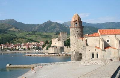 Panoramic town of Collioure