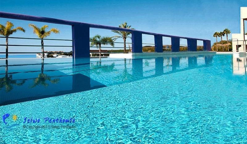 One of two beautiful swimming pools