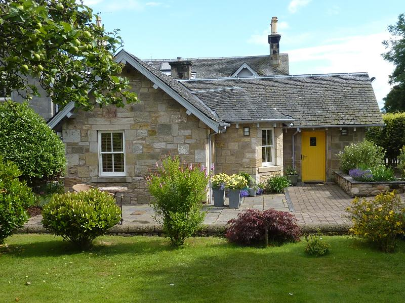 The lovely Sunnybraes Lodge set within its own private garden and parking area.