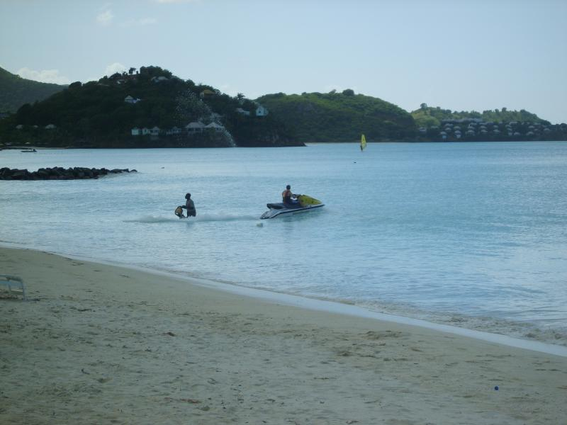 Various watersports available on Jolly Beach