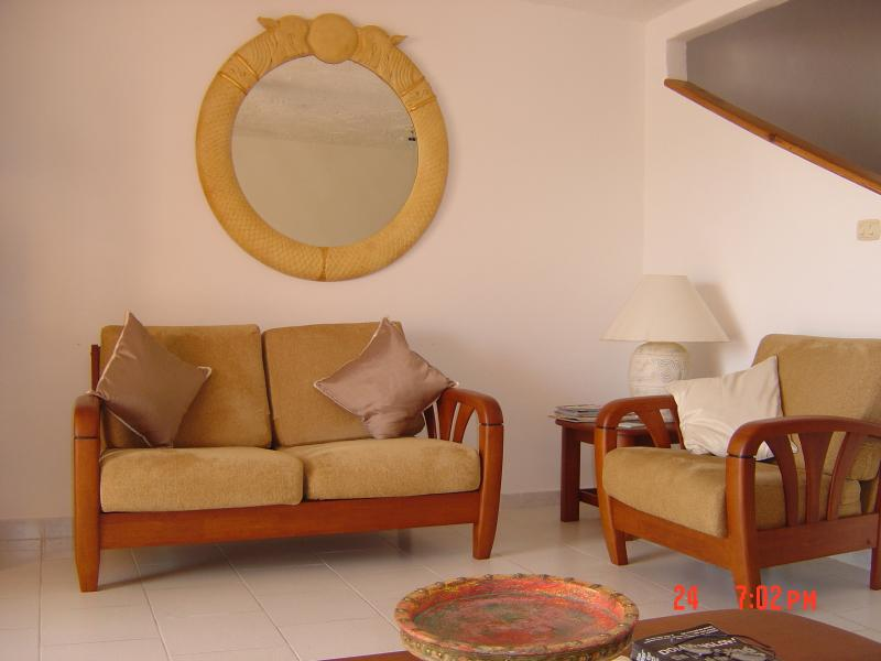 Open plan lounge .
