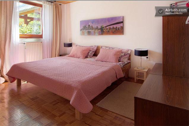 Master bedroom with king size double bed