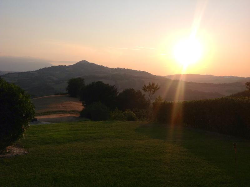 Sunset from Villa Miramonti gardens