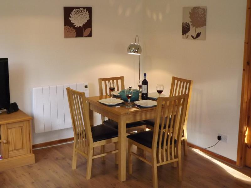 The dining area - with views of the garden