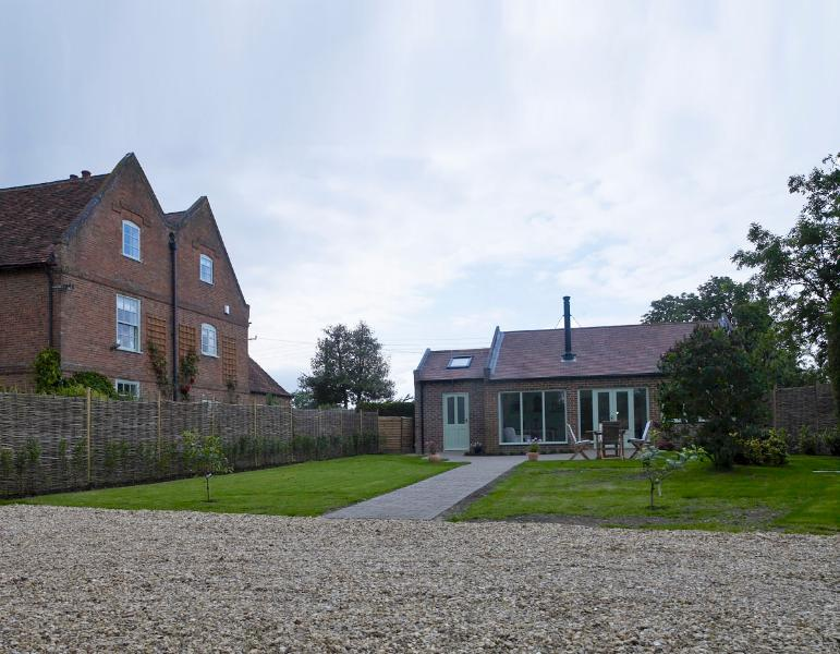 The holiday cottage with its own private garden and parking area