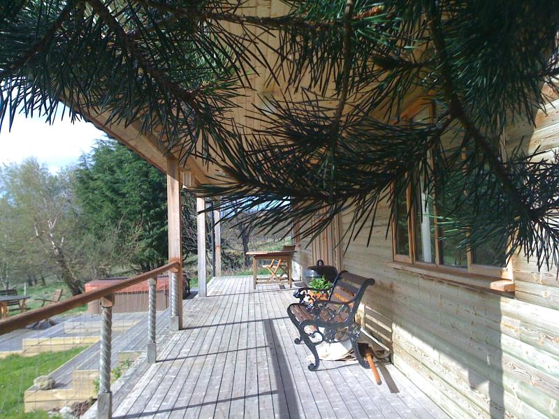 Covered terrace at Ben Lawers Rest