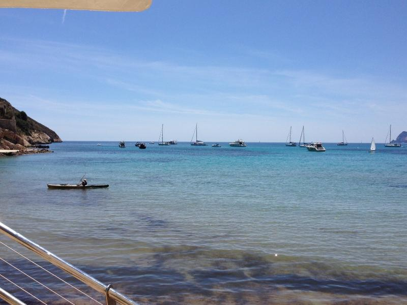 El Portet beach, 5- 10 mins walk from the villa