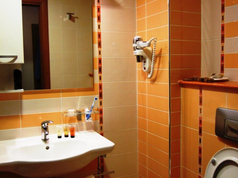 Espace de douche de salle de bain