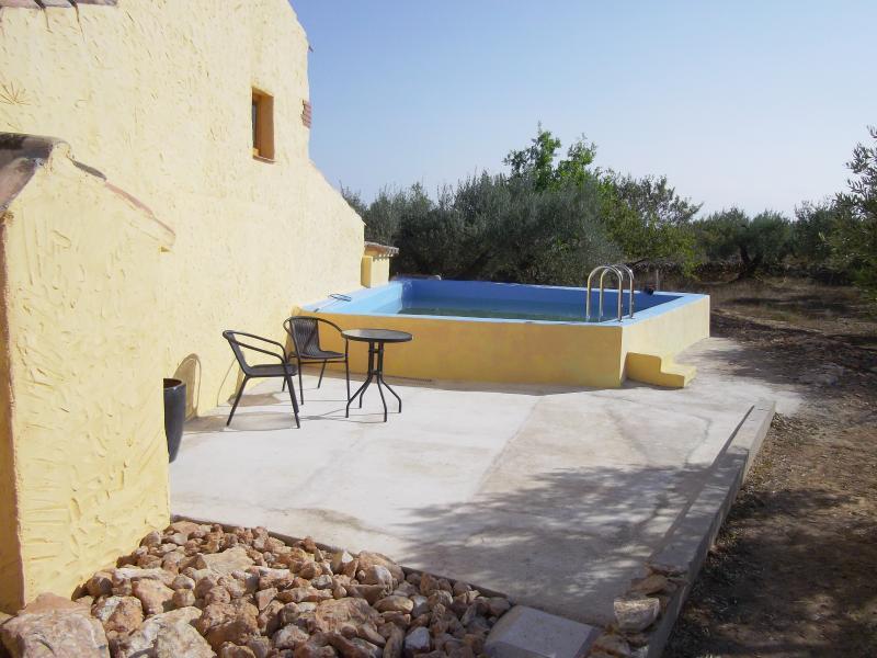 The pool terrace