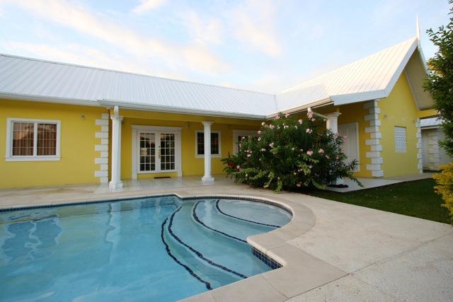 Villa patio and pool
