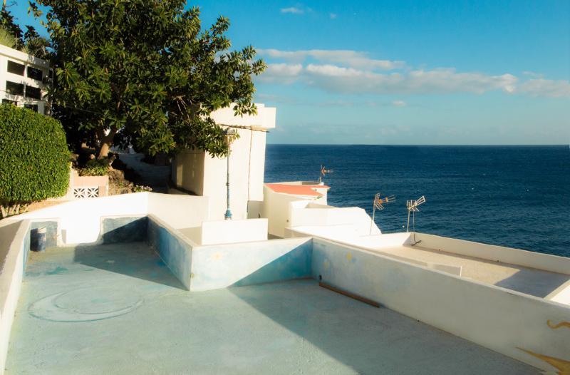 la terrasse supérieure de toit...Vue sur le village