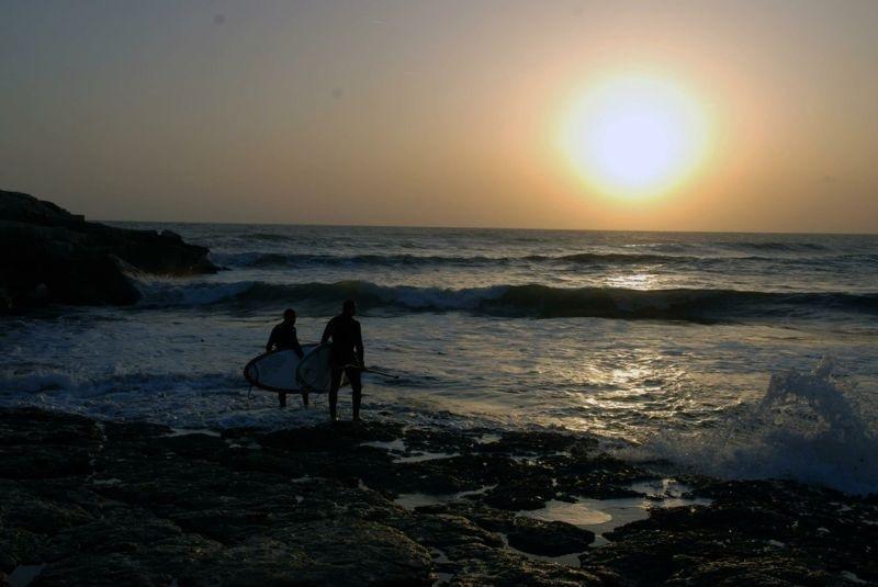 Enjoy surfing .... till sunset