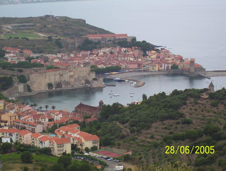 Collioure overview