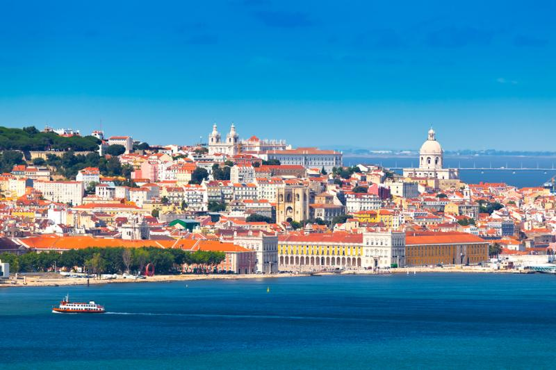 View over the historical center of Lisbon