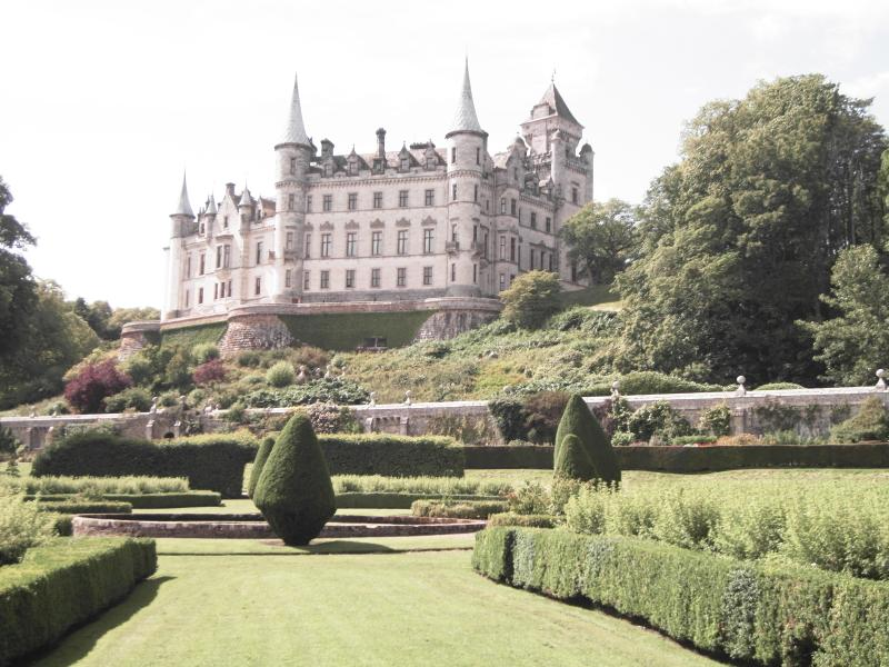 Dunrobin Castle, open to public including Falconry demonstration