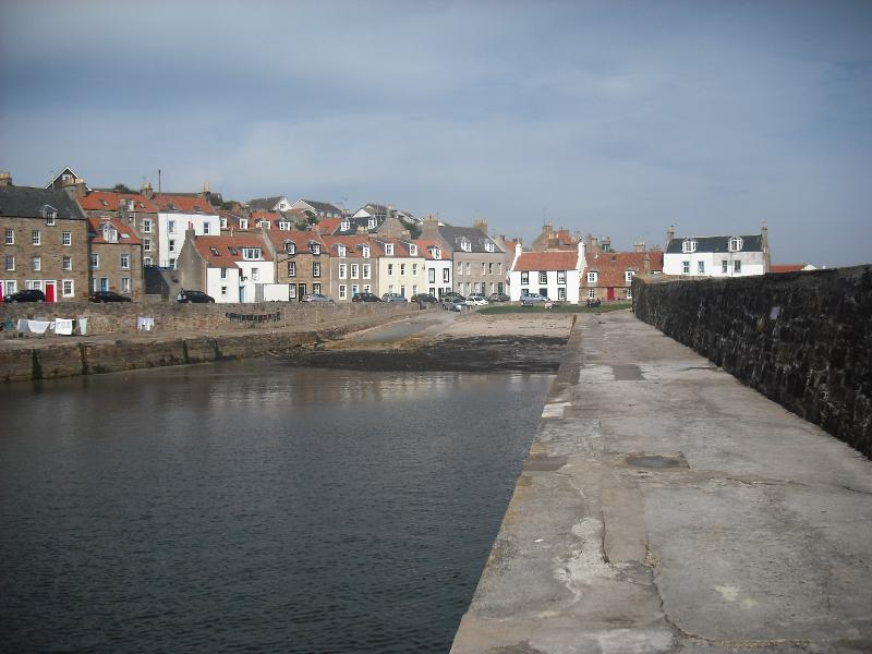 View from Cellardyke harbour entrance looking East