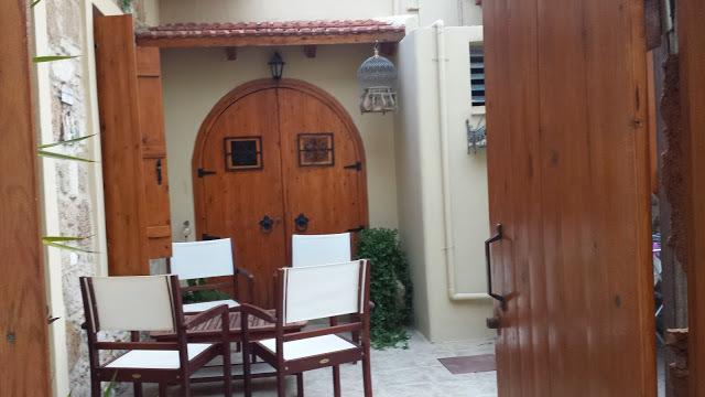 Large enclosed private courtyard