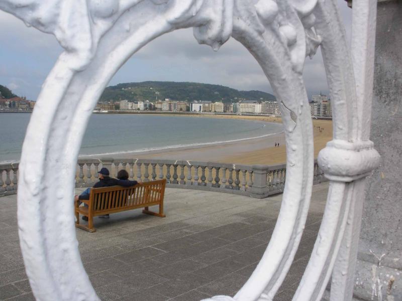 Famous handrail of Kontxa