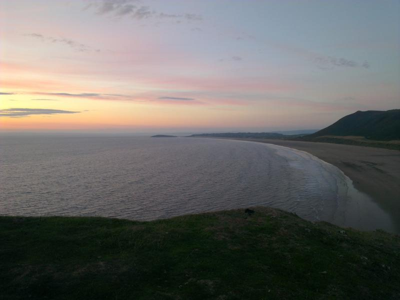 Sweeping Gower Beach
