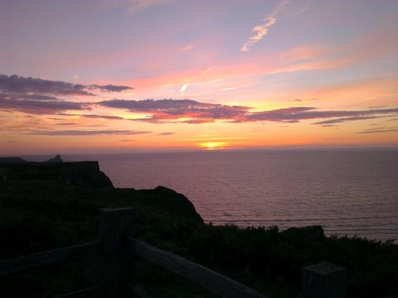 Beautiful sunset over Gower