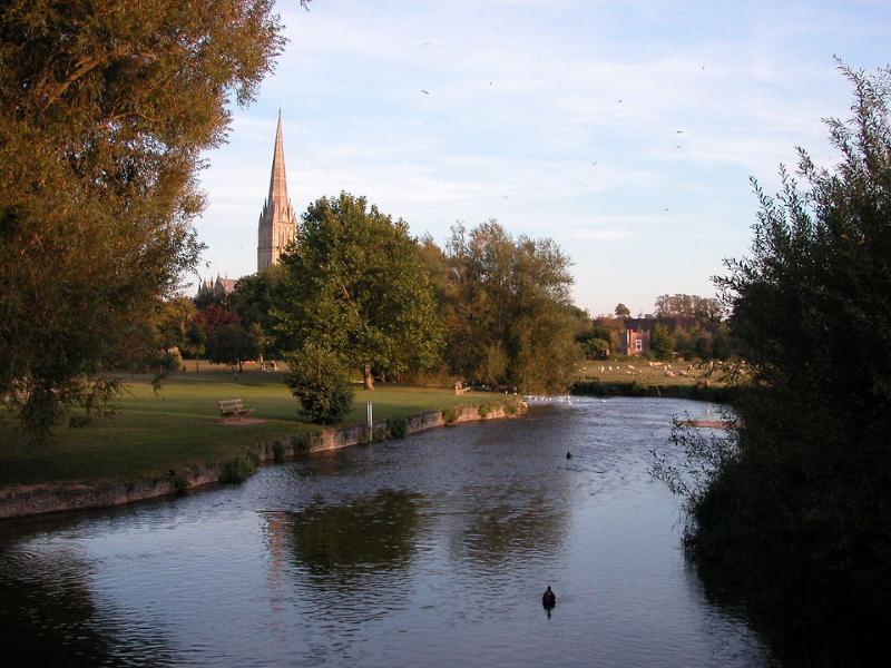 Salisbury Cathedral from Elizabeth Gardens
