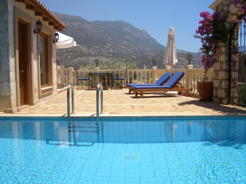 Villa Kucuk Pool & Patio with views of the mountains and sea