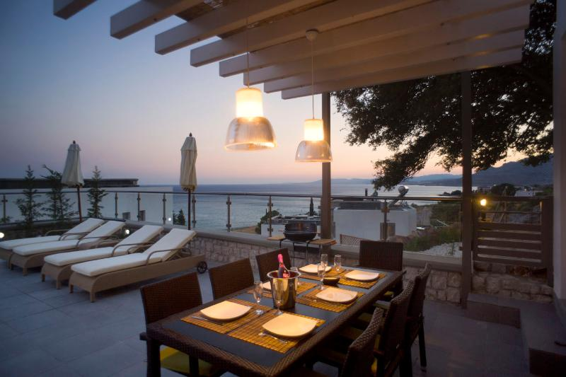 sunset from the villa with unlimitted sea views