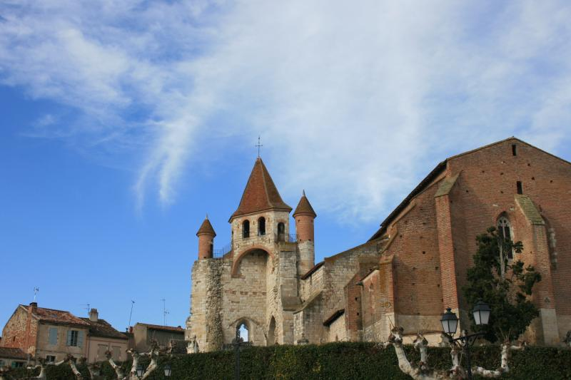 The Church of St Pierre in Auvillar on the St Jaques de Compostelle pilgrims walking route
