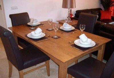 The comfortable dining area