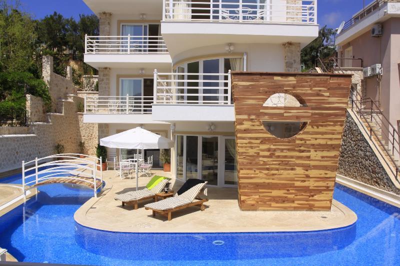 Villa Likya has a unique private wraparound pool