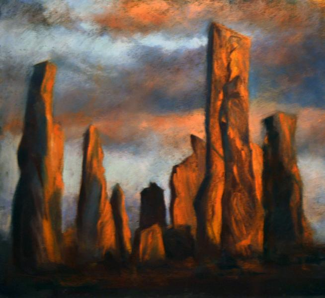 Painting of the famous Callanish Stones
