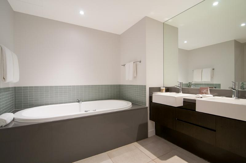 Ensuite with spa bath and walk in shower