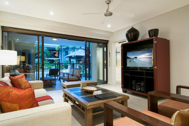 Living room opens directly onto the terrace and pool - via a secure gate for safety