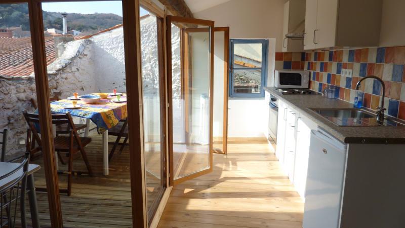 Küche zur Dachterrasse