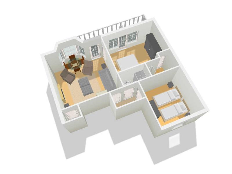 Floor plan - rear elevation