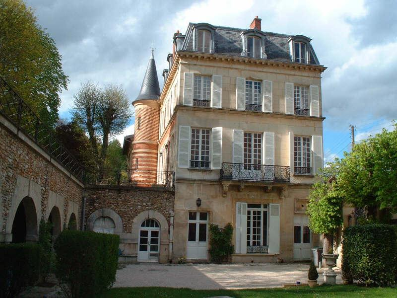 Chateau and part of garden (Your apartment 1st entrance door)
