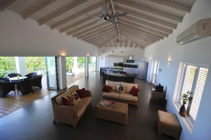 Large open-plan living area