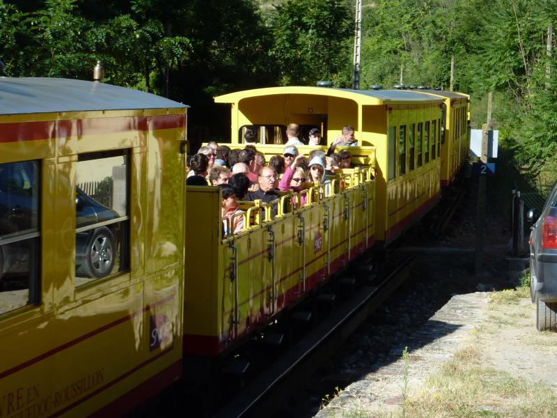 Kleinen gelben Zug